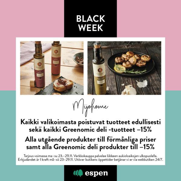 Mijohome black week tarjous