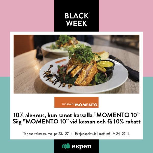 Momenton black week tarjous